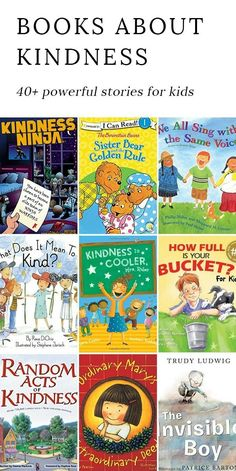 Discover 40+ powerful books for kids that encourage kindness, strengthen relationships, and do their part to make the world a happier place. via @https://www.pinterest.com/fireflymudpie/