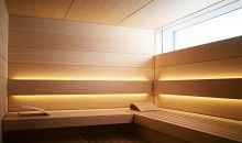 The elaborately refined exterior panelling with curved surface makes the SHAPE Sauna a real temple of well-being and health. Sauna Lights, Modern Saunas, Sauna Design, Portable Sauna, Finnish Sauna, Steam Sauna, Spa Rooms, Sauna Room, Steam Room
