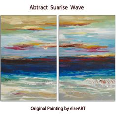 Rolling Wave large art---- Oil painting --- abstract sea art --- home hanging painting modern art - cm x 60 cm)