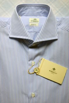 borrelli, blue & white stripe