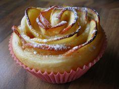 my very special apple muffin . serve it warm with walnut icecream and cream Apfelmuffin . am besten warm mit Walnusseis und Sahne Apple Muffins, Icecream, Warm, Baking, Desserts, Food, Tailgate Desserts, Ice Cream, Deserts