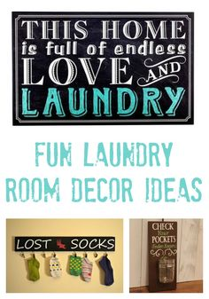 Fun laundry room decor ideas to spruce up this space and make it more enjoyable to get your laundry done! #ad