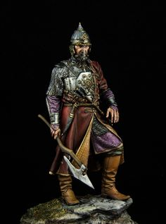 Yermak Timofeyevich conqueror of Siberia - Virtual Museum of Historical Miniatures Fantasy Armor, Medieval Fantasy, Larp Armor, Hobbies For Men, Age Of Empires, Virtual Museum, Figure Model, Russian Art, Toy Soldiers