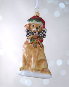 """Golden Retriever"" Christmas Ornament by MacKenzie-Childs at Neiman Marcus."