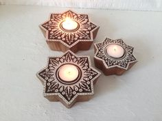 Hey, I found this really awesome Etsy listing at https://www.etsy.com/listing/222582074/set-of-3-candle-holders-wood-tea-light