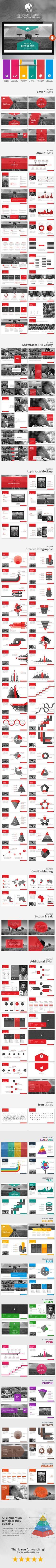 Gajah - Annual Report Powerpoint Template PowerPoint Template / Theme / Presentation / Slides / Background / Power Point #powerpoint #template #theme: