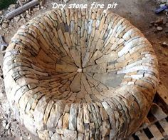 Dry stone firepit for my Chelsea Flower Show garden 2015 'The Time In Between' Fire Pit Decor, Fire Pit Seating, Stone Masonry, Dry Stone, Chelsea Flower Show, Fire Pit Backyard, Stone Work, Outdoor Fire, Backyard Landscaping