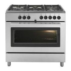 """PRAKTFULL PRO A50 S gas range with convection oven, Stainless steel Width: 35 3/8 """" Depth: 23 5/8 """" Min. height: 35 1/4 """" Width: 90 cm Depth: 60 cm Min. height: 89.5 cm"""