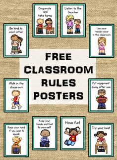 Klassenzimmer Regeln Poster (KOSTENLOS) – Isla Hearts Teaching – Join in the world of pin Kindergarten Classroom Rules, Classroom Rules Poster, Middle School Classroom, Classroom Themes, Preschool Class Rules, Classroom Job Chart, Free Preschool, Learning Centers Kindergarten, Preschool Job Chart