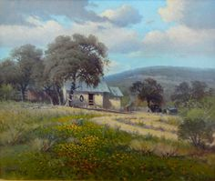 """Whistle Pik Galleries - G. Harvey """"Home Place"""" x Oil G Harvey, Galleries, Landscapes, Paintings, In This Moment, Oil, Fine Art, Art Prints, American"""