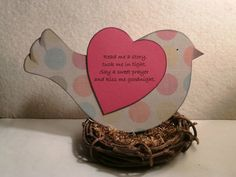 Read me a story - Book theme baby shower decoration or nursery decor - bird in nest