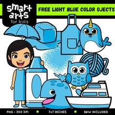 FREE Light Blue Color Objects Clip Arts This FREE Light Blue Color Objects Clip Arts is a part of the Color Objects Clip Arts COLOSSAL GROWING Bundle, if you like this clip arts you can buy the whole BUNDLE on this link ====> Color Math Clipart, Snowman Clipart, Classroom Clipart, Valentines Day Clipart, Smart Art, Play Centre, Light Blue Color, Classroom Displays, Digital Papers