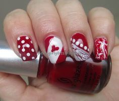 Canada Day nails, nicely done! Nail Polish Designs, Cute Nail Designs, Usa Nails, Glamour Nails, Seasonal Nails, Holiday Nail Art, Polka Dot Nails, Canada Day, Nail Art Galleries
