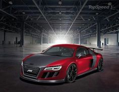 R 8 Audi Red, The Audi R8[9] (Typ 42)[11] is a mid-engine, 2-seater super car,[9][12] which uses Audi's trademark quattro permanent all-wheel drive system.[9][13] It was introduced by the German automaker Audi AG in 2006.  The car is exclusively designed, developed, and manufactured by Audi AG's high performance private subsidiary company, quattro GmbH, and is based on the Lamborghini Gallardo platform.[14] The fundamental construction of the R8 is based on the Audi Space Frame, and uses an…