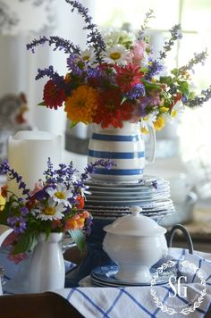 LATE SUMMER FARMHOUSE VIGNETTE. Here's how to create a farmhouse style vignette for your kitchen. stonegableblog,com
