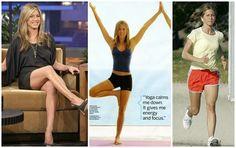 Monday Motivation: JENNIFER ANISTON FITNESS Tips at http://www.clubfashionista.com/2013/02/jennifer-aniston-fitness.html  #JenniferAniston #fitness #fit #healthyliving #yoga