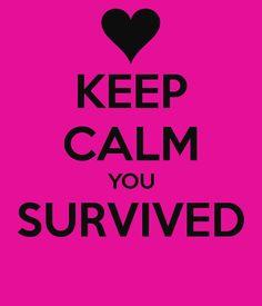 TheRockInkChick blogg: Du har overlevd...
