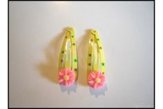 Daisy Flower Girls Yellow Hair Clips(48mm)