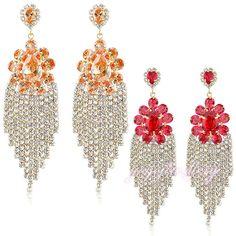 Mytys   Free Shipping Dazzling Crystal Chandelier Dangle Earrings Stetement Jewelry drop earring E616/617 #Affiliate