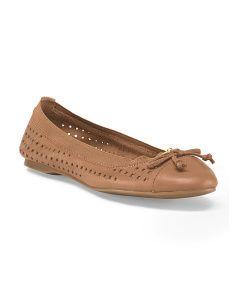 Leather Elise Ballet Flat