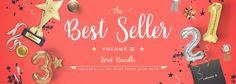 Best Seller Bundle II Cover Blog Design, Print Ads, Banner Design, Header, All About Time, Fonts, Cricut, Printing, Packaging