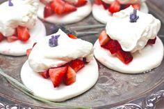 Strawberry Pavlova with Honey Lavender Whipped Cream   The Seaside Baker