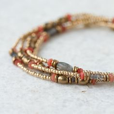 Terrain Coral Bead Bracelet #shopterrain