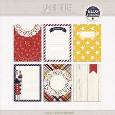 Land of the Free - Free Journal Cards #freeprintables