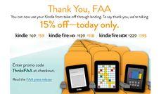 Amazon.it riduce i prezzi dei #Kindle del 15% grazie alla Federal Aviation Administration.