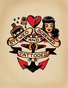 Old fashioned tattoo art