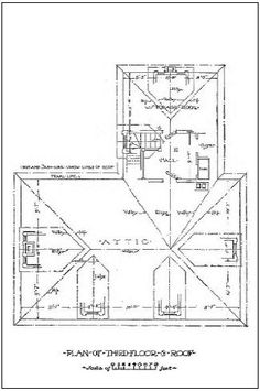 Floor plan for second floor of late 19th century home for 19th century farmhouse plans