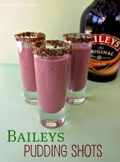 Bailey's Pudding Shots