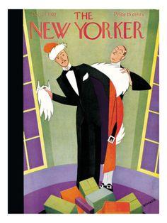 The New Yorker Cover - December 24, 1927 Andre De Schaub