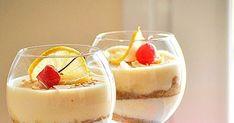 Υποδεχθείτε το!!! Υλικά για 6-8 μερίδες 1 κουτί γάλα εβαπορέ 1 φακελάκι ζελέ με γεύση της αρεσκείας σας (εγώ προτιμώ βερύκοκο) 3/4 κούπας... Lemon Trifle, Creme Caramel, Greek Recipes, Deli, Panna Cotta, Food And Drink, Pudding, Sweets, Cooking