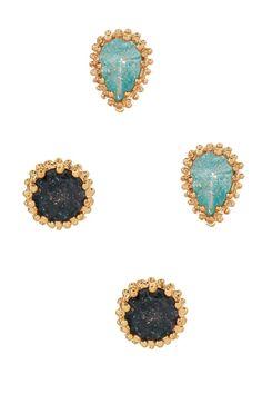 Set of 2 Stud Earrings