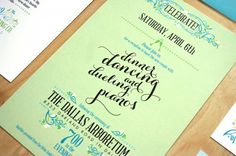 Green + Turquoise Garden Party Wedding Invitations by Mountain Paper via Oh So Beautiful Paper (12)