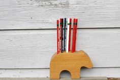Ink & Wit: Blissful bear Pencil Holder.