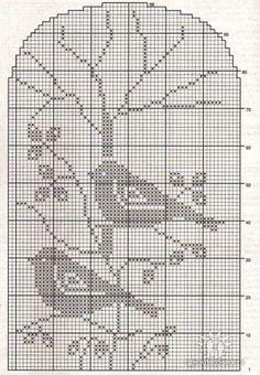 ru / Photo # 10 - different - irinika Filet Crochet, Crochet Patterns Filet, Crochet Table Runner Pattern, Crochet Diagram, Cross Stitch Bird, Cross Stitch Charts, Cross Stitch Designs, Cross Stitching, Cross Stitch Embroidery