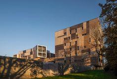 Un balcon en forêt. Logements collectifs à Saint-Herblain - D'architectures