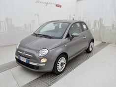 Fiat 500 1.2 69 CV Lounge, usata, color Grigio pompei, a 8.950 €. #Fiat500 #autousate #MirafioriOutlet