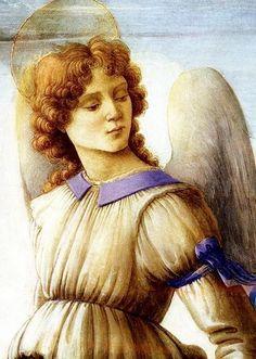 Filippino Lippi (April 1459 – April 1504), angel (detail) from Three Archangels…