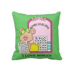 I Love Bingo Pillow