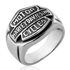 Titanium Harley Motorcycle Icon Ring $169.90