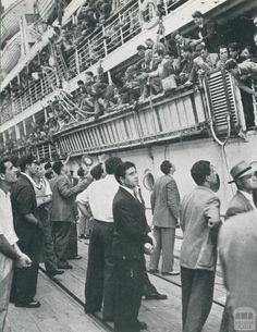 Arrival of Migration Boats, Port Melbourne