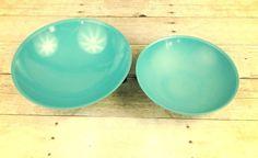 Set Blue Boontonware Melamine Bowls Vintage Kitchen Melmac Salad Mixing Bowls   eBay