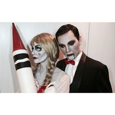 We Love These 5 Creative Celebrity Couple Halloween Costumes ❤ liked on Polyvore featuring costumes