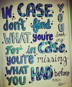 Lyrics Drawing of In Case by Demi Lovato