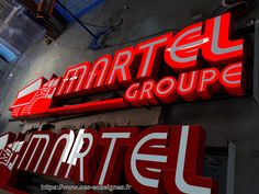 Enseigne grand format MARTEL Groupe Grand Format, Neon Signs, Decoration, Group, Decor, Dekoration, Decorations, Embellishments, Decorating