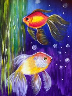 Watch your Inner Artist unfold with Paint Along Two Fish, Step By Step Painting, Paint Party, Learn To Paint, Corporate Events, Watch, Artist, Fun, Animals
