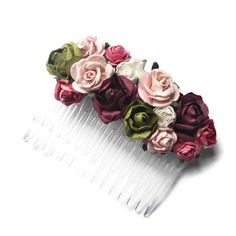 Bridal flower hair comb. Paper flower comb. Bridal accessories. Bridesmaid comb. Boho flower comb. Floral style. Wedding accessories. by HaveaFlowerDay on Etsy https://www.etsy.com/uk/listing/280532492/bridal-flower-hair-comb-paper-flower
